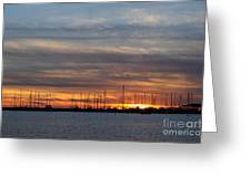 Rock Hall Sunset I Greeting Card