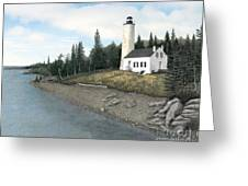Rock Harbor Lighthouse Greeting Card