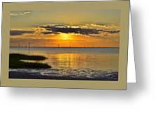 Rock Harbor Sunset 2 Greeting Card