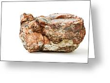 Rock Isolated On White Greeting Card
