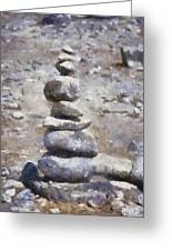 Rock Markers Photo Art 02 Greeting Card