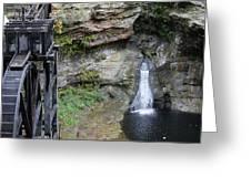 Rock Mill Water Fall In Ohio Greeting Card