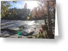 Rock Mountian Yosemite Greeting Card