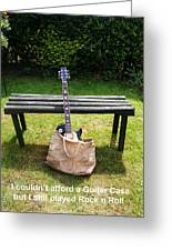 Rock N Roll Guitar In A Bag Greeting Card