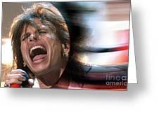 Rock N Roll Steven Tyler Greeting Card