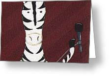 Rock 'n Roll Zebra Greeting Card by Christy Beckwith