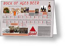 Rock Of Ages Bass Beer Timeline Greeting Card