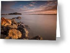 Rock Peninsula In Humboldt Bay Greeting Card