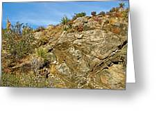 Rock Pile In Black Rock Canyon On Panorama Loop Trail In Joshua Tree National Park-california Greeting Card