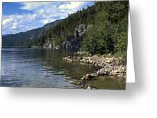 Rock Pools On Christina Lake Greeting Card