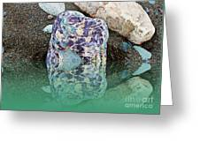 Rock Reflections - Water - Beach Greeting Card