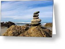 Rock Sculpture At The Beach Greeting Card