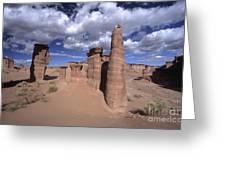 Rock Sentinels In Talampaya National Park Greeting Card