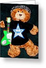 Rock Star Teddy Bear Greeting Card