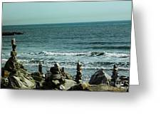 Rock Statues Greeting Card