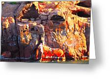 rock structure at Sea of Cortez Greeting Card