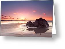 Rock Sunset 03 Greeting Card