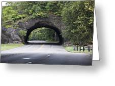 Rock Tunnel On Kelly Drive Greeting Card by Bill Cannon