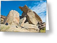 Rock Uplifts In Andreas Canyon In Indian Canyons-ca Greeting Card