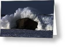 Rock V Wave II Greeting Card