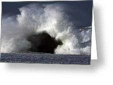 Rock V Wave IIi Greeting Card by Tony Reddington