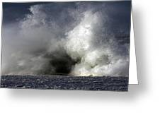 Rock V Wave Iv Greeting Card by Tony Reddington