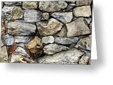 Rock Wall  Greeting Card by Les Cunliffe