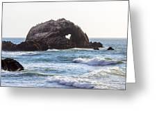 Heart Rock Near San Francisco Ca Cliff House Greeting Card