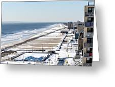 Rockaway Beach During Arctic Vortex Greeting Card