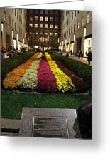 Rockefeller Center In Autumn Greeting Card