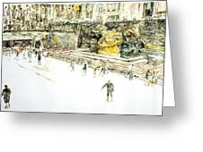Rockefeller Center Skaters Greeting Card