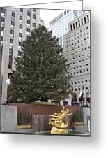 Rockefeller Christmas Tree Greeting Card