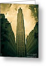 Rockefeller Tower Greeting Card