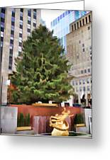 Rockefeller Tree Greeting Card