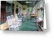 Rockers On The Porch Greeting Card