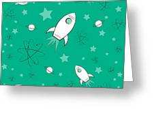 Rocket Science Green Greeting Card