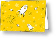 Rocket Science Yellow Greeting Card