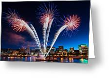 Rockets Red Glare Greeting Card