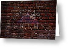 Rockies Baseball Graffiti On Brick  Greeting Card by Movie Poster Prints