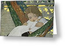 Rocking Baby Doll To Sleep Greeting Card