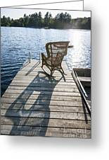 Rocking Chair On Dock Greeting Card