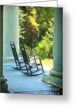 Rocking Chairs And Columns Greeting Card