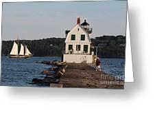 Rockland Breakwater Light 8986 Greeting Card