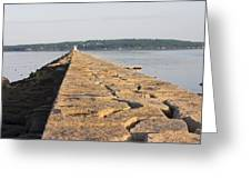 Rockland Breakwater Lighthouse Coast Of Maine Greeting Card