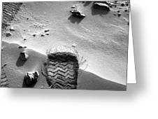 Rocknest Site, Mars, Curiosity Image Greeting Card by Science Photo Library