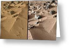 Rocknest Site, Mars, Curiosity Images Greeting Card
