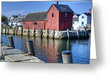 Rockport Fishing Village Greeting Card