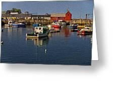Rockport Harbor No.3 Greeting Card