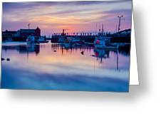 Rockport Harbor Sunrise Over Motif #1 Greeting Card
