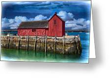 Rockports Motif Number 1 Painting Greeting Card